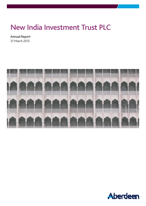 Aberdeen New India Investment Trust annual report 2015