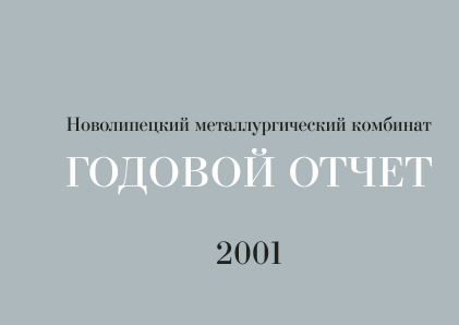 Novolipetsk Iron And Steel Corp annual report 2001