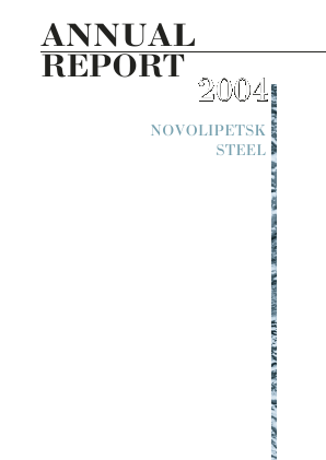 Novolipetsk Iron And Steel Corp annual report 2004