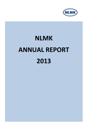 Novolipetsk Iron And Steel Corp annual report 2013