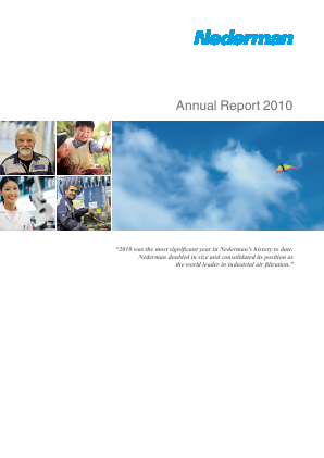 Nederman Holding annual report 2010