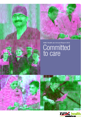 NMC Health Plc annual report 2012