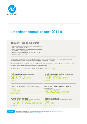 Nordnet annual report 2011