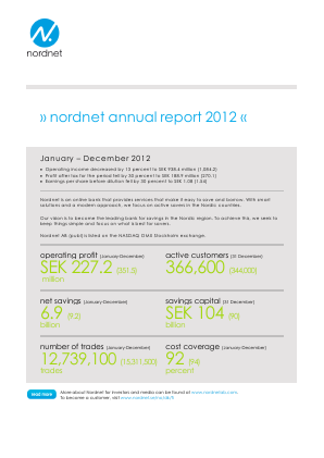 Nordnet annual report 2012