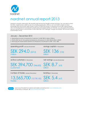 Nordnet annual report 2013