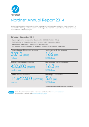 Nordnet annual report 2014