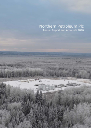 Cabot Energy (previously Northern Petroleum) annual report 2016