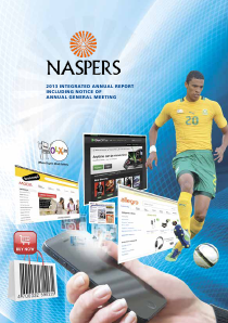 Naspers annual report 2013