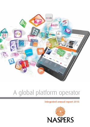Naspers annual report 2015