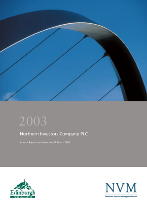 Northern Investors Company annual report 2003