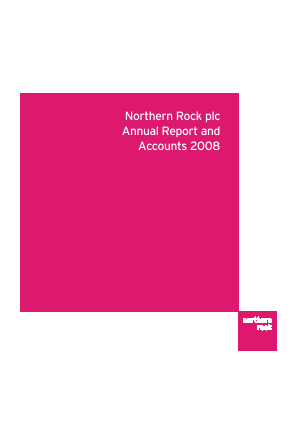 Northern Rock annual report 2008