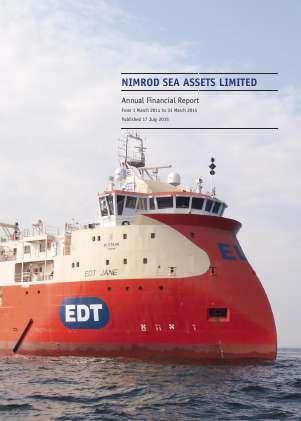 Nimrod Sea Assets annual report 2015