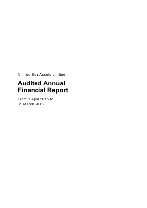 Nimrod Sea Assets annual report 2016