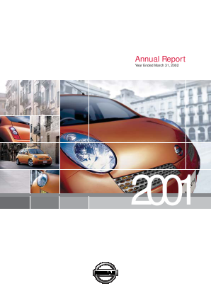 Nissan Motor annual report 2001