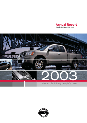 Nissan Motor annual report 2003