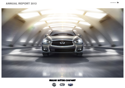 Nissan Motor annual report 2013