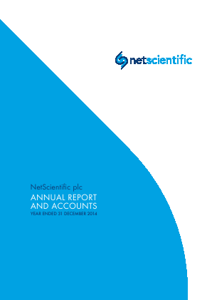 Netscientific Plc annual report 2014