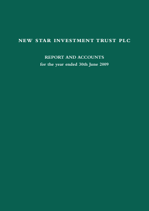 New Star Investment Trust annual report 2009