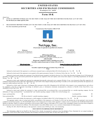 NetApp, Inc. annual report 2015