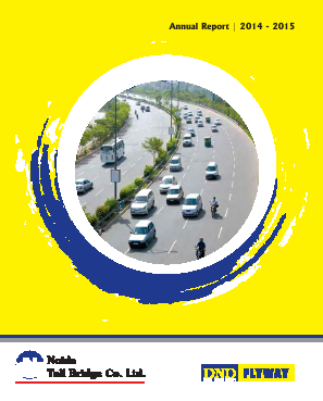 Noida Toll Bridge Co annual report 2015