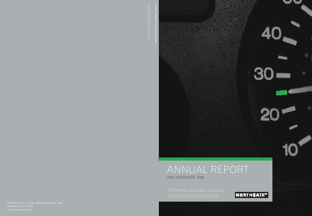 Northgate Plc annual report 2006