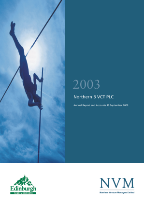Northern 3 VCT annual report 2003