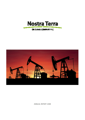 Nostra Terra Oil&gas Co Plc annual report 2009