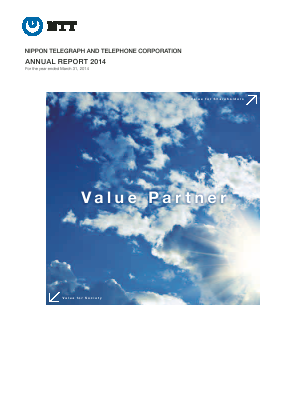 Nippon Telegraph & Telephone annual report 2014