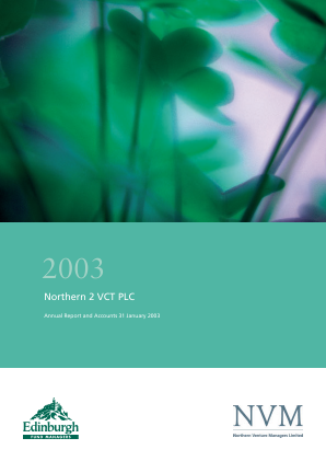 Northern 2 VCT annual report 2003