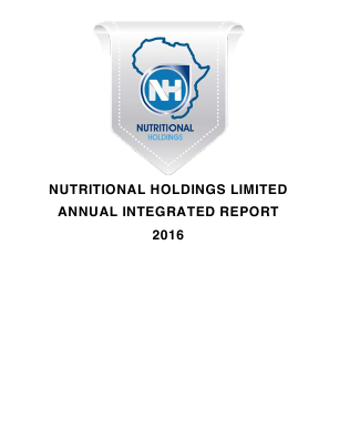 Nutritional Holdings annual report 2016