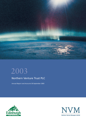 Northern Venture Trust annual report 2003