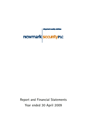 Newmark Security annual report 2009