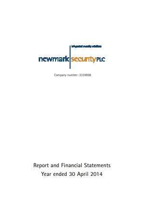 Newmark Security annual report 2014