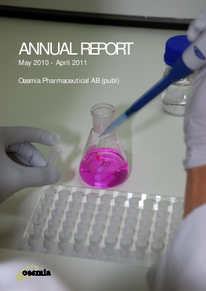 Oasmia Pharmaceutical annual report 2010