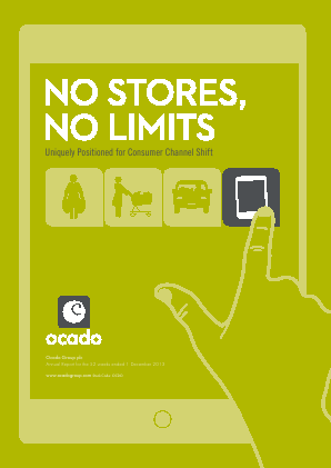 Ocado Group Plc annual report 2013