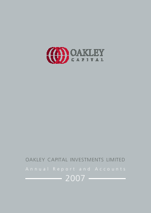 Oakley Capital Investments annual report 2007