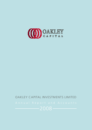 Oakley Capital Investments annual report 2008