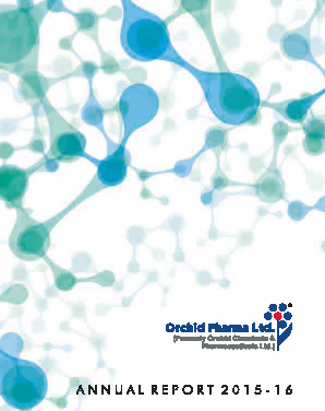 Orchid Pharma annual report 2016