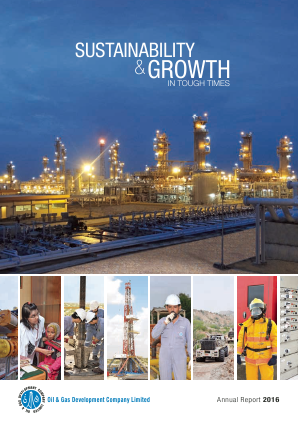 Oil & Gas Development Company annual report 2016