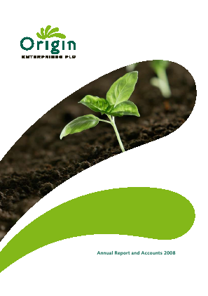 Origin Enterprises Plc annual report 2008