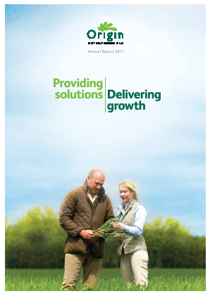 Origin Enterprises Plc annual report 2011