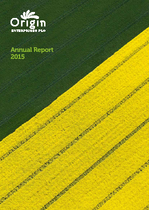 Origin Enterprises Plc annual report 2015