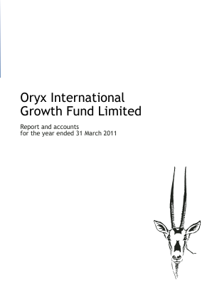 Oryx International Growth Fund annual report 2011