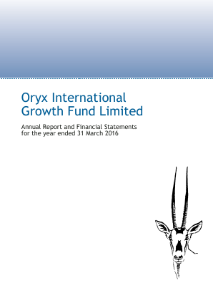Oryx International Growth Fund annual report 2016