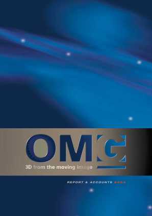 Oxford Metrics (Previously OMG) annual report 2004