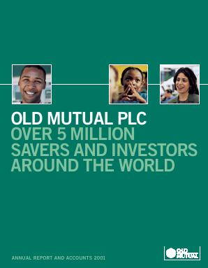 Old Mutual Plc annual report 2001