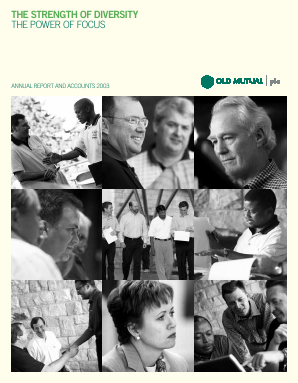 Old Mutual Plc annual report 2003