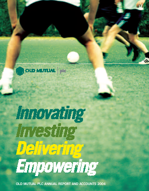 Old Mutual Plc annual report 2004