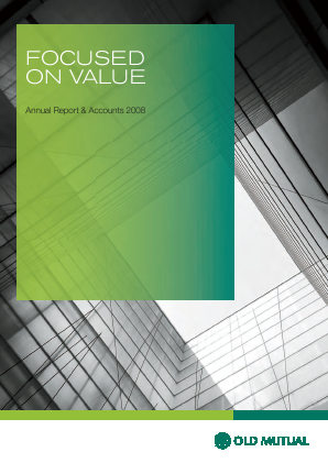 Old Mutual Plc annual report 2008
