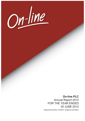 On-line Plc annual report 2012